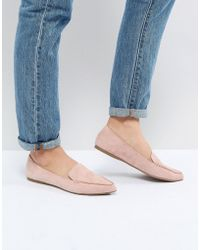 Steve Madden - Feather Rose Suede Flat Shoes - Lyst