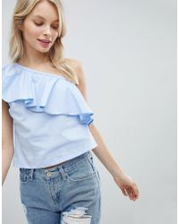 Glamorous - One Shoulder Top - Lyst