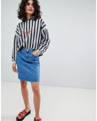 Uncivilised - Denim Mini Skirt - Lyst