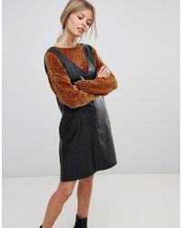 0d7fd6ccec ASOS Asos Scuba Cami Wrap Mini Dress in Black - Lyst