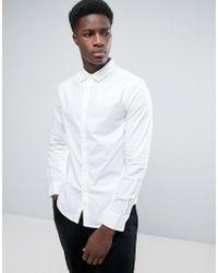 Bershka - Smart Shirt In White - Lyst