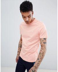 Original Penguin - Small Logo Crewneck Slim Fit T-shirt In Pink - Lyst