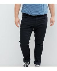 Jacamo - Skinny Fit Jeans In Black Wash - Lyst