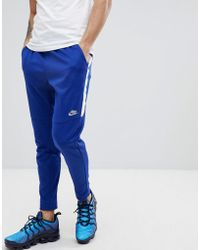 Nike - Tribute Joggers In Slim Fit In Blue 861652-455 - Lyst