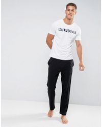 Tommy Hilfiger - Lounge Pants Icon Waistband In Black - Lyst