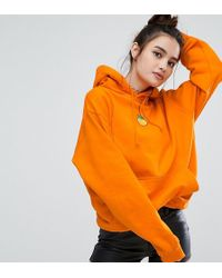 Adolescent Clothing - Oversized Hoodie With Peach Embroidered Patch - Lyst