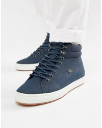 ddde22ae4 Lacoste - Straightset Insulate C 318 1 Chukka Boots In Navy - Lyst