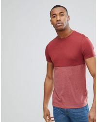 ASOS - T-shirt With Contrast Body Block In Red - Lyst