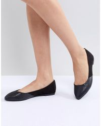 Oasis - Pointed Toe Flat - Lyst