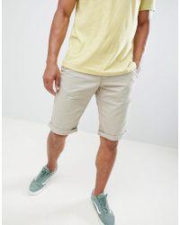 Esprit - Slim Fit Chino Shorts In Beige - Lyst