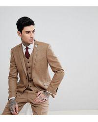 Heart & Dagger - Veste de costume slim en tweed stretch motif chevrons - Lyst