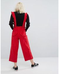 Lazy Oaf - Frilly Suspender Dungaree Pants - Lyst