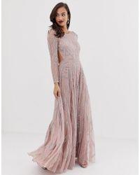 ASOS - Nouveau Crystal Embellished Maxi Dress - Lyst
