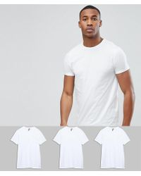 ASOS DESIGN - Crew Neck T-shirt 3 Pack Save - Lyst