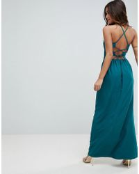 ASOS - Asos Tie Back Maxi Dress - Lyst