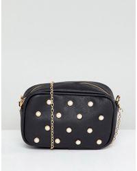Yoki Fashion - Camera Bag With Pearl Embellishment - Lyst