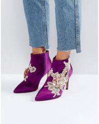 ASOS - Asos Elegance Embellished Pointed Ankle Boots - Lyst