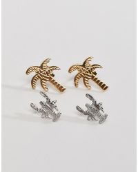 Nylon - Palm And Lobster Earring Set - Lyst