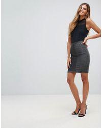 Y.A.S - Ciroli Mid Waist Lurex Pencil Skirt - Lyst