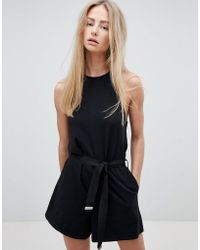 Dr. Denim - Playsuit With Exposed Zip - Lyst