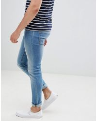 Produkt - Skinny Fit Jeans In Washed Blue Denim - Lyst