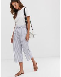 B.Young Stripe Tie Waist Pants Coord - Multicolor