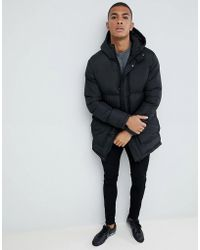 French Connection - Long Line Padded Funnel Neck Coat - Lyst