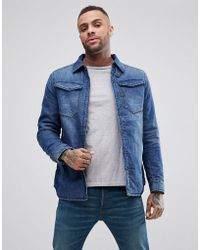 G-Star RAW - 3301 Padded Denim Overshirt Dark Aged Wash - Lyst