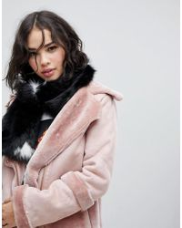 Skinnydip London - Black Faux Fur Oversized Star Scarf - Lyst