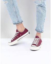 Converse - Chuck '70 Ox Trainers In Burgundy - Lyst