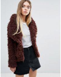 First & I - Teddy Fur Jacket - Lyst