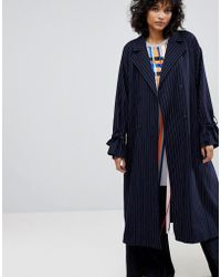 2nd Day - Stripe Trench Coat - Lyst
