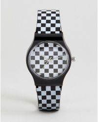 ASOS - Checkerboard Watch - Lyst