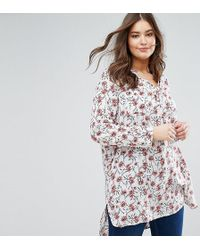 Madam Rage - Longline Tunic Shirt With 3/4 Sleeve - Lyst