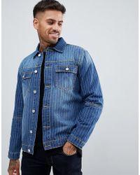 Boohoo - Denim Jacket In Pin Stripe - Lyst