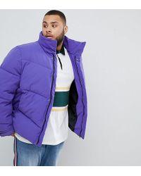 f28e4fa99e14 Lyst - PUMA Plus Vintage Half-zip Jacket In Purple Exclusive To Asos ...