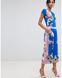 Ted Baker - Debbae Culottes In Harmony Floral Print - Lyst