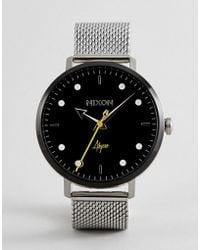 Nixon - A1238 Arrow Mesh Watch In Silver - Lyst