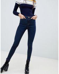 Miss Selfridge - Skinny Jeans In Indigo - Lyst