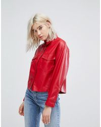 Bershka - Double Pocket Shirt With Covered Placket - Lyst