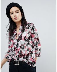 Soaked In Luxury - Floral Flock Swing Blouse - Lyst