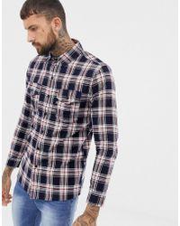 Good For Nothing - Geruit Overhemd In Marineblauw - Lyst
