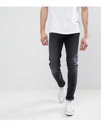 Farah - Tall Drake Slim Fit Jeans In Charcoal - Lyst