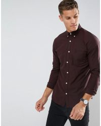 SELECTED - Slim Oxford Shirt With Embroidered Badge - Lyst