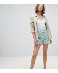 Reclaimed (vintage) - Inspired Stripe Mom Short - Lyst