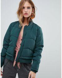 ONLY - Elastic Hem Padded Jacket - Lyst