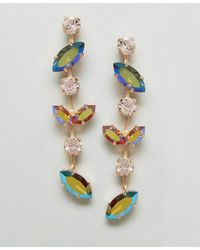 Krystal London - London Swarovski Crystal Skip Drop Earrings - Lyst