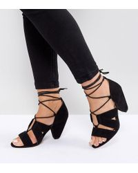 ASOS - Asos Tali Wide Fit Lace Up Heeled Sandals - Lyst