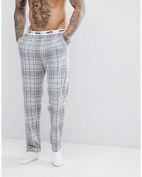 ASOS - Pyjamas In Grey Check - Lyst