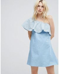 A State Of Being - Gale One Shoulder Frilll Dress - Lyst